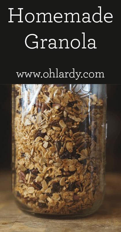 Homemade Granola - www.ohlardy.com