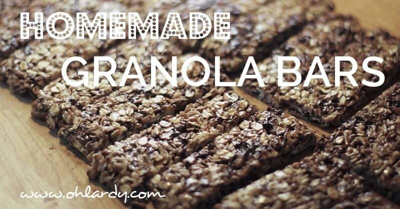 Homemade Granola Bars - www.ohlardy.com