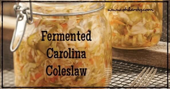 Fermented Carolina Coleslaw - www.ohlardy.com