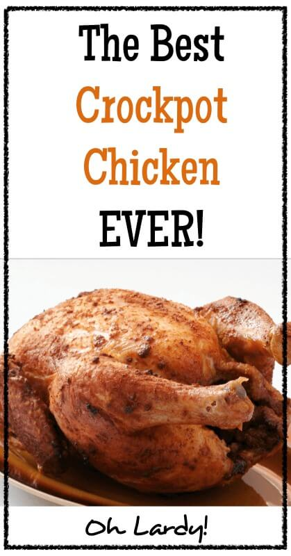 The Best Crockpot Chicken Ever. I make this weekly in my house! It is a versatile recipe with real food ingredients. This pastured chicken dish will nourish your family with traditional food. Feel free to change up the spices how you see fit! www.ohlardy.com