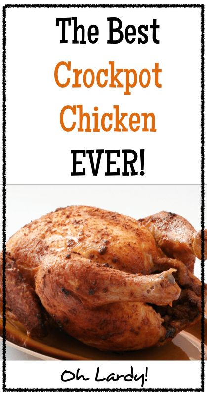The Best Crockpot Chicken Ever - www.ohlardy.com