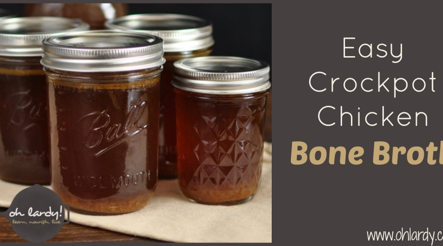 Easy Crockpot Chicken Bone Broth - www.ohlardy.com