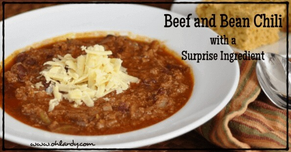 Beef and Bean Chili with a Surprise Ingredient - www.ohlardy.com