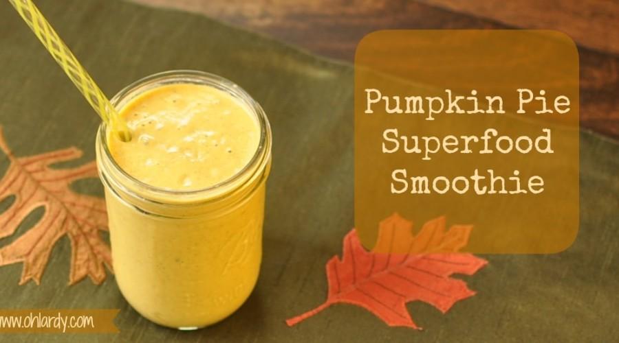 Pumpkin Pie Superfood Smoothie - www.ohlardy.com