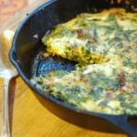 Parmesan Frittata with Fresh Rosemary and Greens - www.ohlardy.com
