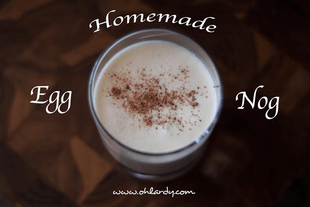 Homemade Egg Nog - ohlardy.com