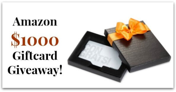 $1000 Amazon Gift Card Giveaway - www.ohlardy.com