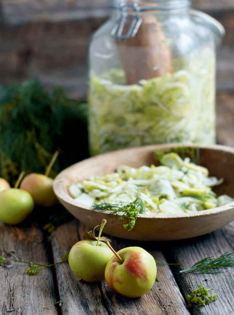 Fennel Kohlrabi and Green Apple Relish