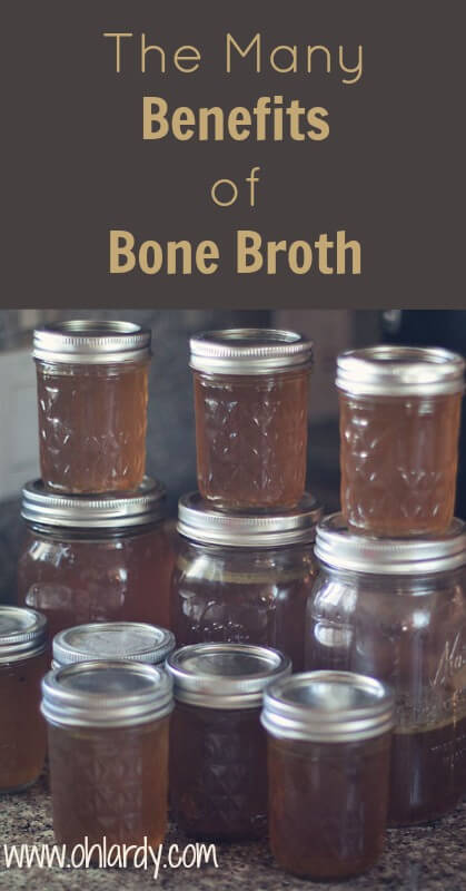 The Many Benefits of Bone Broth. Nourishing Food. Healing Food. Amino Acids, Collagen, Digestion, Gelatin, Cost Saving. This is a must in the real food kitchen! - www.ohlardy.com