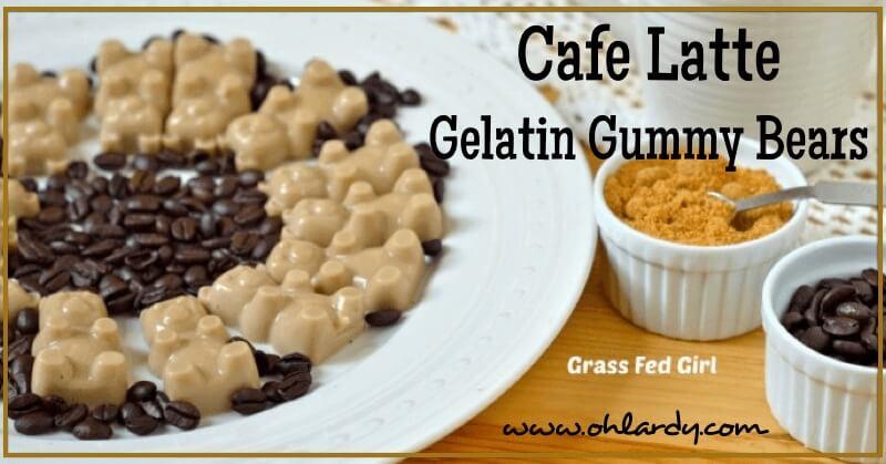 Cafe Latte Gelatin Gummy Bears - www.ohlardy.com