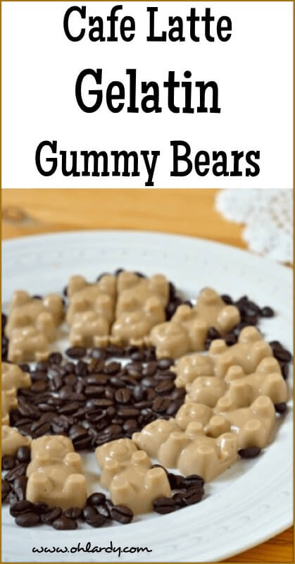 Cafe Latte Gelatin Gummy Bears with Real Ingredients!