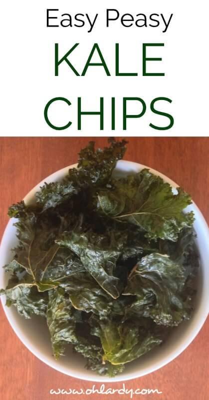 Easy Peasy Salt and Vinegar Kale Chips - www.ohlardy.com