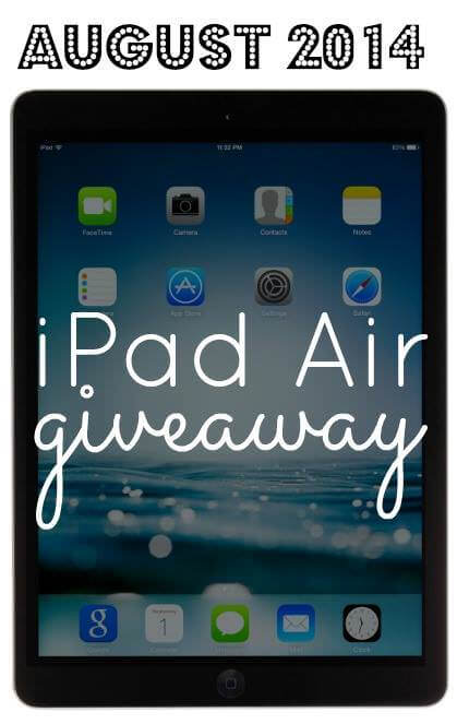 iPad Air Giveaway - ohlardy.com