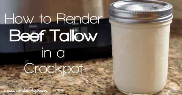 How to Render Beef Tallow in a Crockpot - www.ohlardy.com