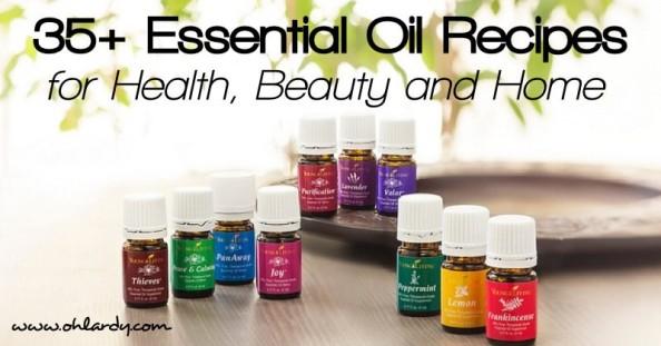 35 Essential Oil Recipes for Health, Beauty and Home - www.ohlardy.com