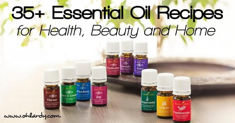 35 Essential Oil Recipes for Health, Beauty and Home - www.ohlardy.com
