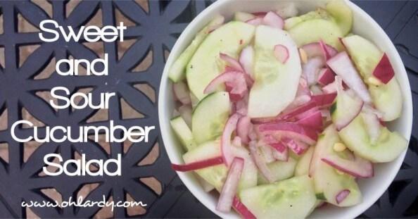 Sweet and Sour Cucumber Salad - www.ohlardy.com