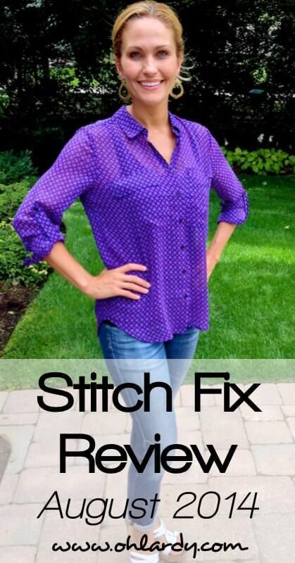 My Stitch Fix Review August 2014 - www.ohlardy.com
