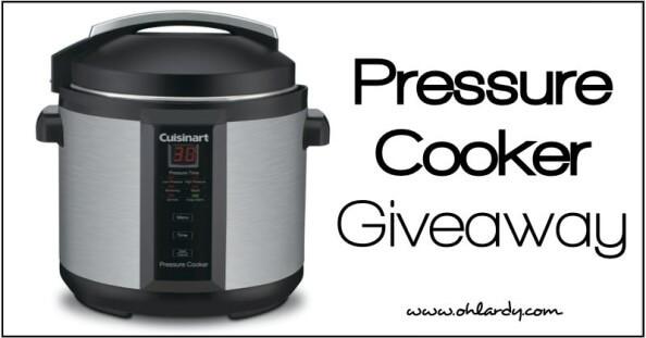 Pressure Cooker Giveaway - www.ohlardy.com