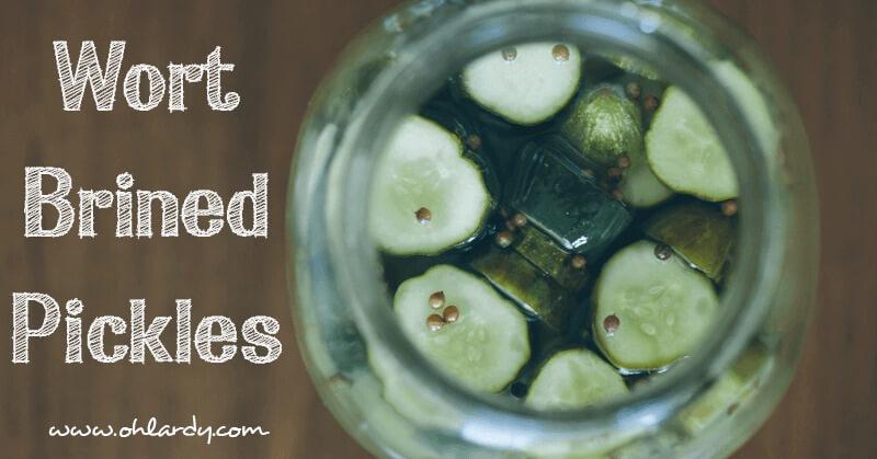 Wort Brined Pickles