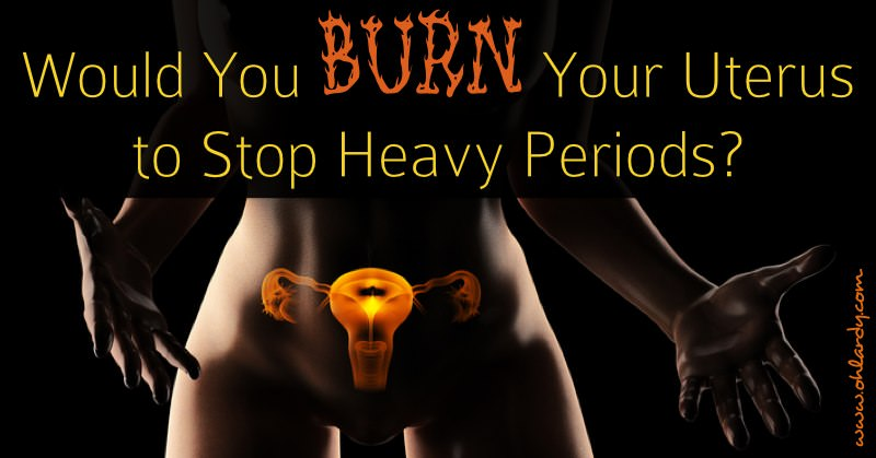 Don't burn your uterus to stop your heavy periods! Read why you should not undergo endometrial ablation. Treat your hormonal imbalance naturally!