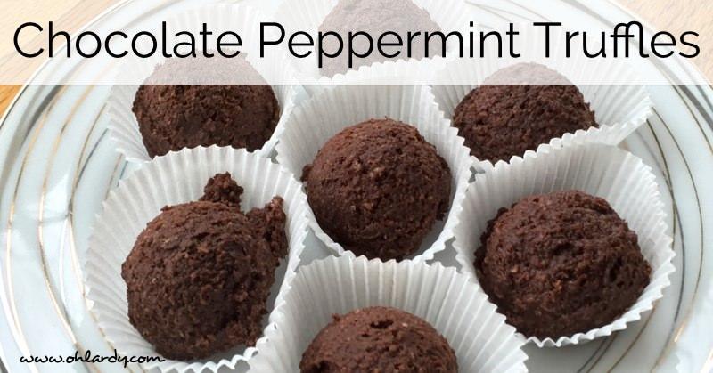 Homemade Dark Peppermint Truffles from Homemade Mommy