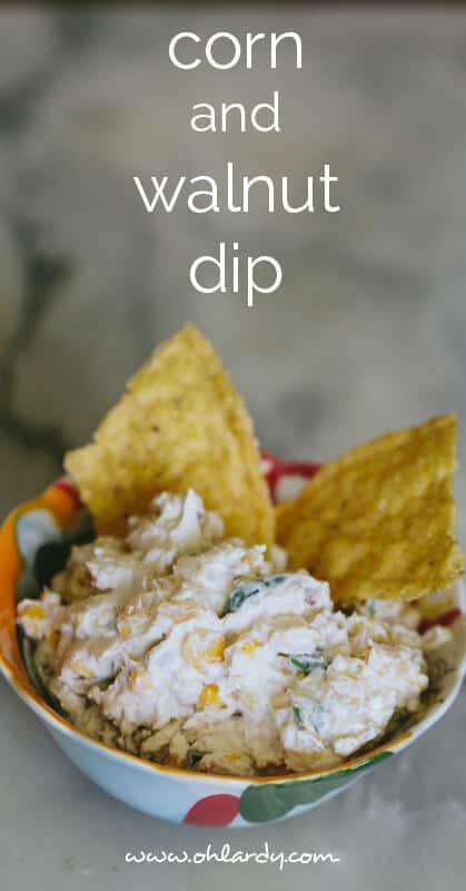 corn and walnut dip - ohlardy.com #appetizers #dip #recipes