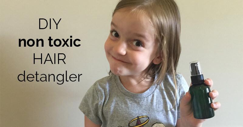 DIY non-toxic hair detangler - ohlardy.com