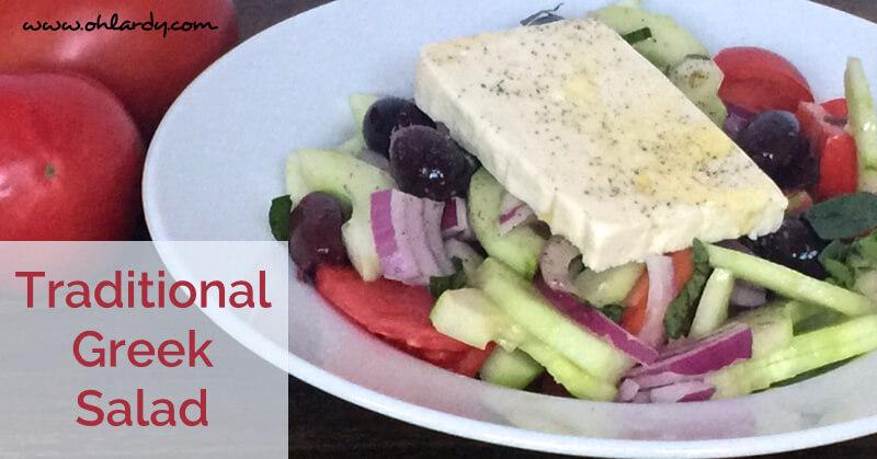 Traditional Greek Salad Recipe - www.ohlardy.com