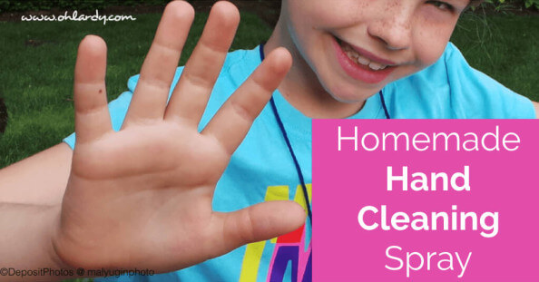 Homemade Hand Cleaning Spray Recipe