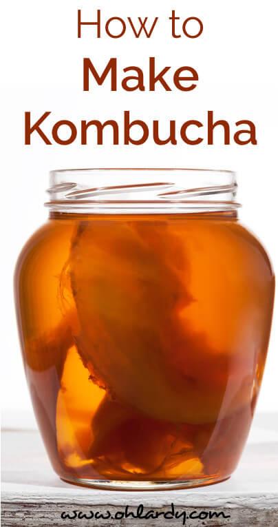 How to Easily Make Kombucha Tea - www.ohlardy.com