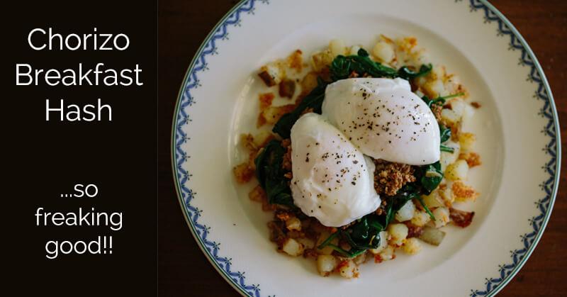 Chorizo breakfast hash - ohlardy.com