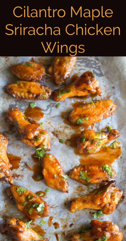 Cilantro Maple Sriracha Chicken Wings Recipe