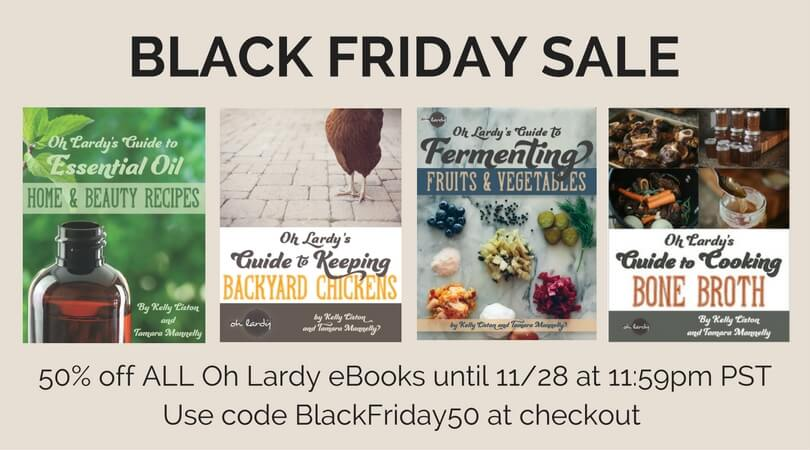 Oh Lardy's E-Book Black Friday Bonanza!